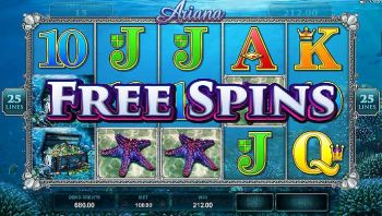 Ariana primjer free spins bonusa (besplatna okretanja)