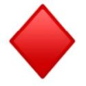 Znak karo na kartama za igranje.