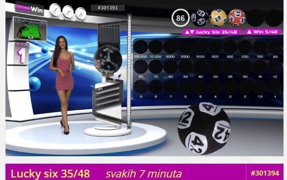 Snimak ekrana Lucky Six binga.