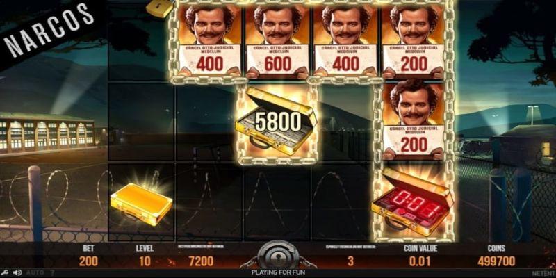 Narcos slot igra, snimak bonus runde.