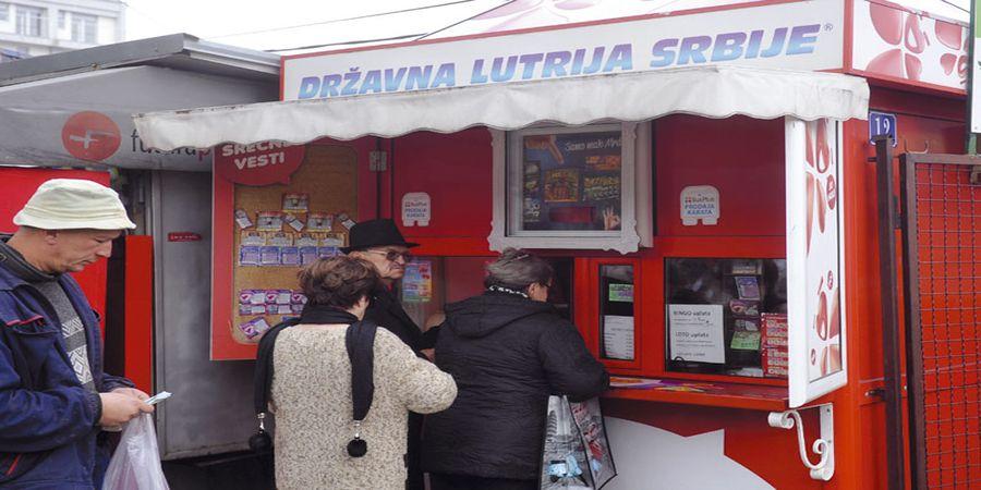 Kiosk lutrije Srbije gdje možete uplatiti loto listić.